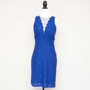 Bellissima Blue Lace Dress with Sequins